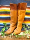2トーンカラー JOCKEY ブーツ(キャメル×ブラウン)