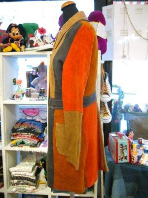 画像2: ★★★SALE★★★ Vintage  ヌバックレザー マルチカラー コート (ブラウン系)