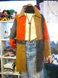 ★★★SALE★★★ Vintage  ヌバックレザー マルチカラー コート (ブラウン系)