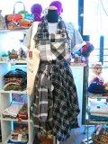 ★★20%OFF★★ 『Nyaoko BY NAOKO USHIRO』 ネルシャツリメイク  サロペットスカート (ブラック系)