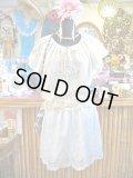 ★★★SALE★★★ 裾レース刺繍 シンプル コットン スカート (ホワイト)