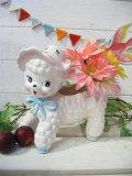 ★★50%OFF★★ 60's  Vintage 「NAPCOWARE社」  頭巾ヒツジさん  Babyプランター(ホワイト)
