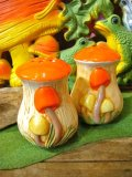 70'sVintageMushroom Solt&Pepperセット(オレンジ)