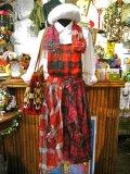 ★★20%OFF★★ 『Nyaoko BY NAOKO USHIRO』 ネルシャツリメイク  サロペットスカート (レッド系)