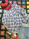 USED 「Lee」チェック ネルシャツ (ブルー系)