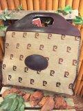 60's  Vintage    「Pierre   Cardin」 レザーハンドル   トート(ベージュ)