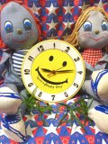 ★★★SALE★★★ 70's  Vintage    「LUX」社製  SMILE   Wall Clock(イエロー)