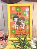 70's Vintege「 love is...」フェルトタペストリー