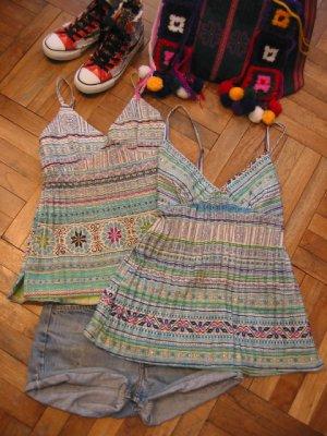 画像1: モン族 刺繍キャミ(2desigh)
