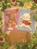 「moondid」イラスト ポストカード (白ウサギ/茶ウサギ)
