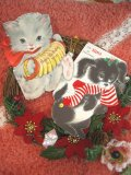 Vintage X'mas Card (Cat/Dog)
