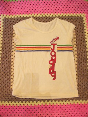 画像1: レインボーライン JoggingTシャツ (クリーム)