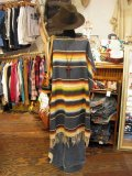 70's Vintage Rag メキシカンポンチョ(インディゴ)