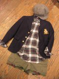 「Ralph Lauren」USED チェックシャツ (グリーンxホワイト)