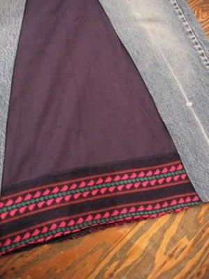 画像3: 「SOLリメイク」 Levis505 マキシ丈デニムスカート  W28