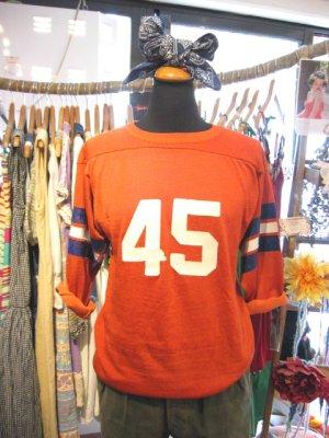 画像1:  OLD ナンバリング アメフト Tシャツ (オレンジブラウン)