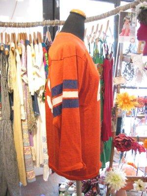 画像2:  OLD ナンバリング アメフト Tシャツ (オレンジブラウン)