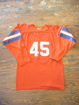 画像3:  OLD ナンバリング アメフト Tシャツ (オレンジブラウン)