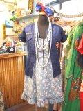 Vintage Vネック ボーイスカウトシャツ (ネイビー)