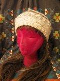 アルパカ民族柄 ベレー帽 (ホワイト)