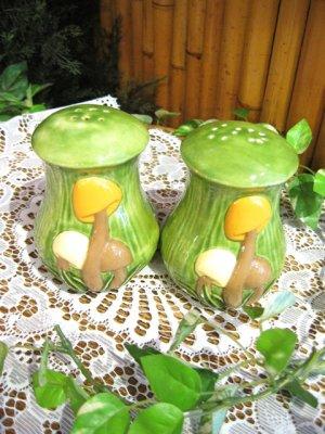 画像1: ★★★SALE★★★ 70's Vintage Mushroom S&Pセット (グリーン)