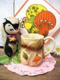 70'sVintageデコボコ Mushroomマグカップ(ブラウン)