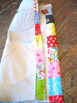 画像4: 「SOLリメイク」 Lee Westerner サイドパッチ スカート (ホワイト)