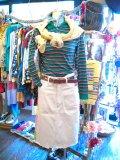 「SOLリメイク」 Lee Westerner サイドパッチ スカート (ホワイト)