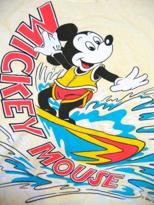 画像4: OLD  Mickey サーフィン Tシャツ (レモンイエロー)