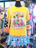 USED  Mickey &Minnie 「AMERICAN CLASSIC」 Tシャツ (ヤマブキ)