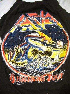 画像3: 80's「AZIA」ラグランTシャツ (ブラックxサックス)