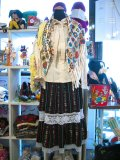 Vintage  グァテマラ刺繍 レース フレアスカート (ブラック)
