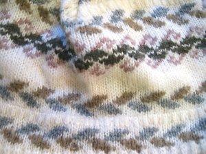 画像3: ノルディック柄 ポンポンニット帽(ホワイト×グレー)