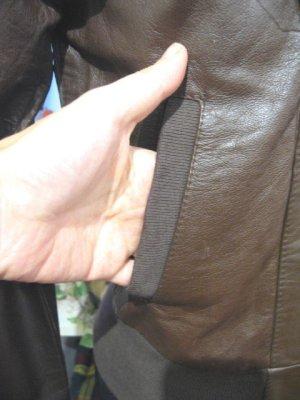 画像3: USED リアルレザー フード ジャケット (ダークブラウン)