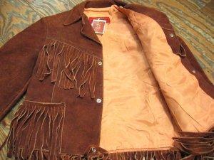 画像3: Vintage リアルレザー フリンジ スウェード ジャケット(ブラウン)