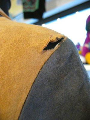 画像3: ★★★SALE★★★ Vintage  ヌバックレザー マルチカラー コート (ブラウン系)