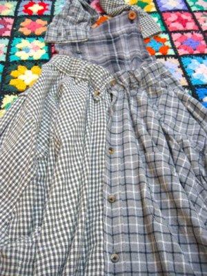 画像4: ★★20%OFF★★ 『Nyaoko BY NAOKO USHIRO』 ネルシャツリメイク  サロペットスカート (グレー系)