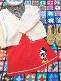 ★★★SALE★★★「SOLリメイク」USED Levi's コーデュロイ スカート W30 (レッド)