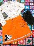 ★★★SALE★★★「SOLリメイク」USED Levi's コーデュロイスカート   W28 (オレンジ)