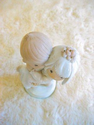 画像4: Vintage   LOVE  Wedding    陶器 置物 (ホワイト×サックス)