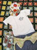 USED  シンプルBicycle トリムTシャツ (ホワイト×ネイビー)
