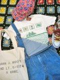 マリンプリント ボーダ Tシャツ(ホワイト×グリーン)
