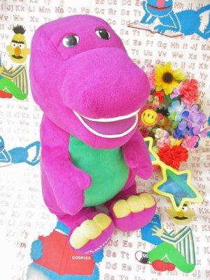 画像1: old 「Tolking Barney」恐竜さんの  おっきめぬいぐるみ(グレープ)