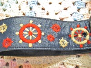 画像2: Vintage ラダー刺繍 レザーベルト (ネイビー)