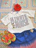 USED  「Minnie」  ぷくぷくプリント  Tシャツ Kid'sS(ホワイト)