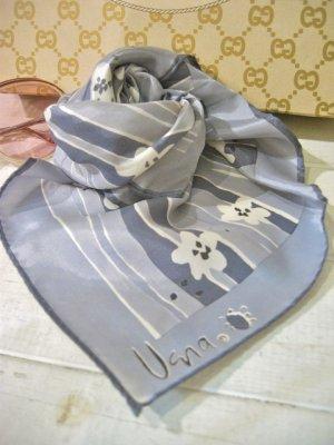 画像1: 70's Vintage 「Vera」 スカーフ (グレー×ホワイト)