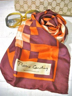 画像1: 70's 「PierrCardin」 Vintage スカーフ (オレンジ)