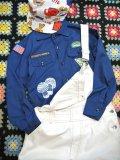 """70's """"mushroom""""Boy Scout shirt (navy)"""