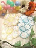 Vintage   Flower刺繍    シルクサテン   ワッペン   (2color)