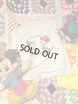 画像1: USED  「Mickey&Minnie」  Grand Canyon   Tシャツ (ライトグレー/T100〜)